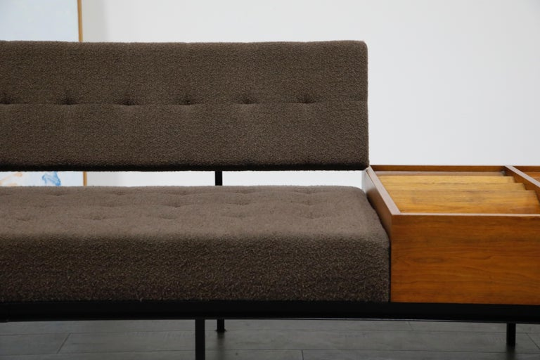 1st Generation Florence Knoll Model #578 Sofa by Knoll Associates, 1950s, Signed For Sale 6