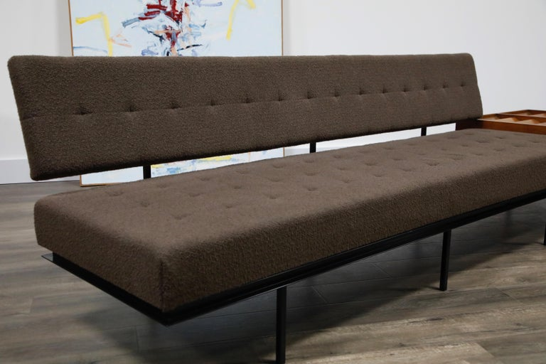 1st Generation Florence Knoll Model #578 Sofa by Knoll Associates, 1950s, Signed For Sale 7