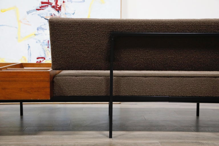 1st Generation Florence Knoll Model #578 Sofa by Knoll Associates, 1950s, Signed For Sale 11