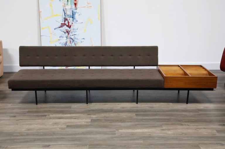 Mid-Century Modern 1st Generation Florence Knoll Model #578 Sofa by Knoll Associates, 1950s, Signed For Sale