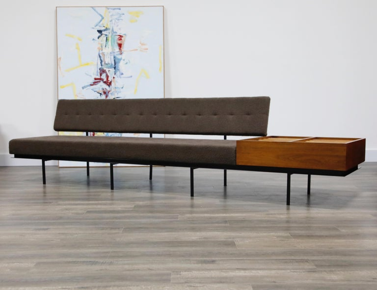 American 1st Generation Florence Knoll Model #578 Sofa by Knoll Associates, 1950s, Signed For Sale