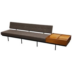 1st Generation Florence Knoll Model #578 Sofa by Knoll Associates, 1950s, Signed