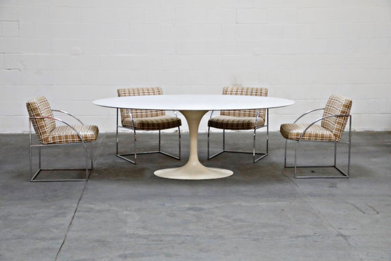 1st Generation Knoll Associates Marble Tulip Dining Table, 1950s, Triple Signed For Sale 2