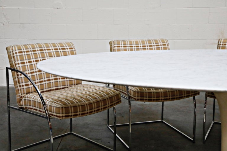 1st Generation Knoll Associates Marble Tulip Dining Table, 1950s, Triple Signed For Sale 3