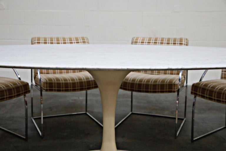 1st Generation Knoll Associates Marble Tulip Dining Table, 1950s, Triple Signed For Sale 4