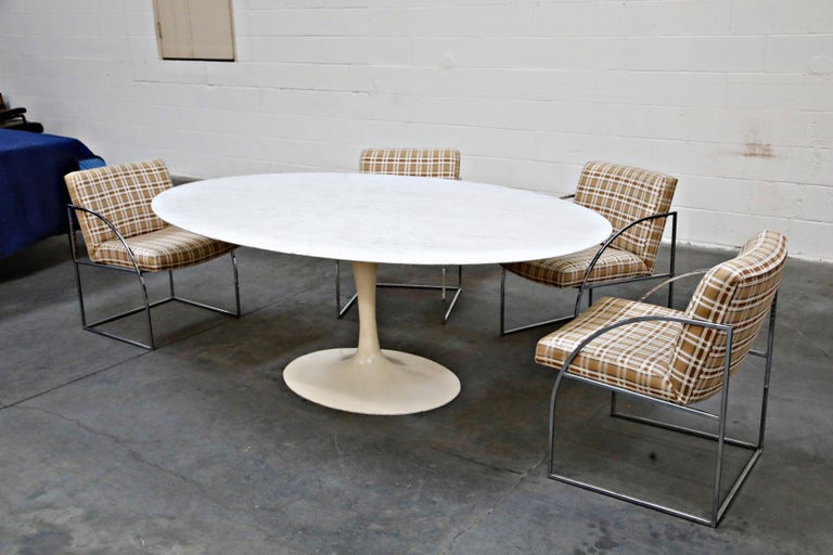 1st Generation Knoll Associates Marble Tulip Dining Table, 1950s, Triple Signed For Sale 5