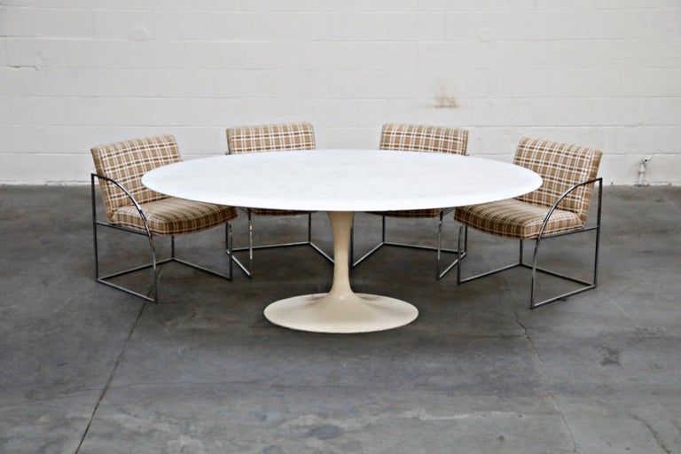 1st Generation Knoll Associates Marble Tulip Dining Table, 1950s, Triple Signed For Sale 6
