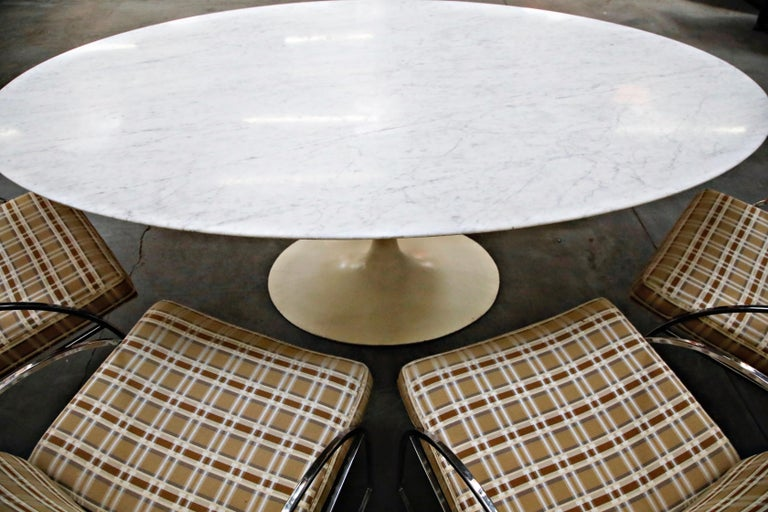 1st Generation Knoll Associates Marble Tulip Dining Table, 1950s, Triple Signed For Sale 7