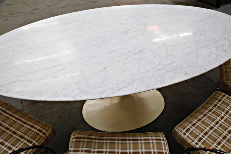1st Generation Knoll Associates Marble Tulip Dining Table, 1950s, Triple Signed For Sale 8