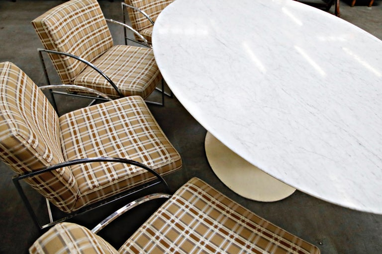 1st Generation Knoll Associates Marble Tulip Dining Table, 1950s, Triple Signed For Sale 9