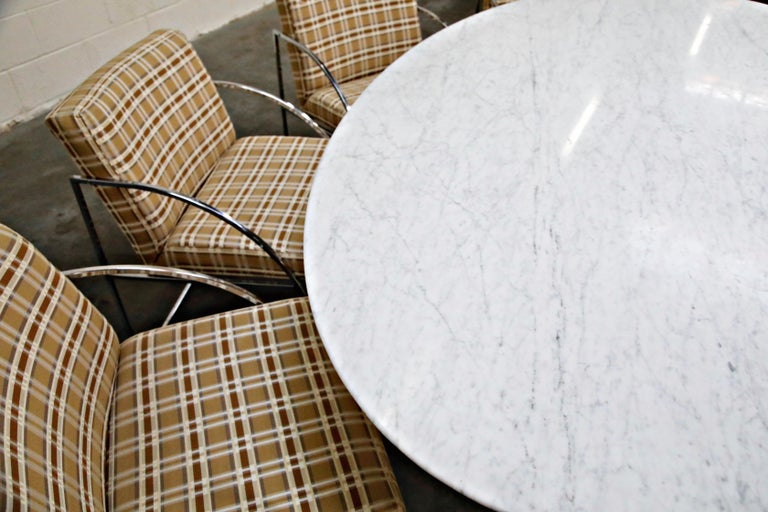 1st Generation Knoll Associates Marble Tulip Dining Table, 1950s, Triple Signed For Sale 10