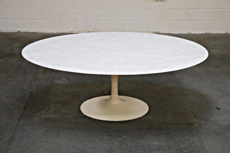 American 1st Generation Knoll Associates Marble Tulip Dining Table, 1950s, Triple Signed For Sale