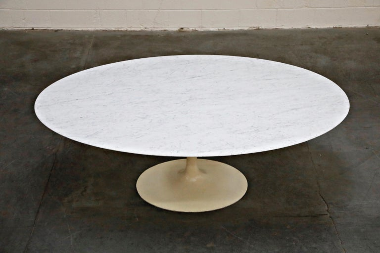 Cast 1st Generation Knoll Associates Marble Tulip Dining Table, 1950s, Triple Signed For Sale