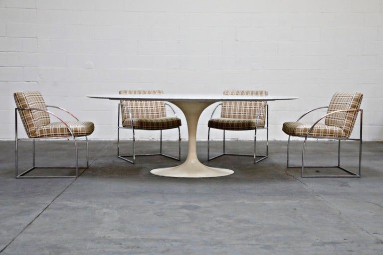 1st Generation Knoll Associates Marble Tulip Dining Table, 1950s, Triple Signed For Sale 1