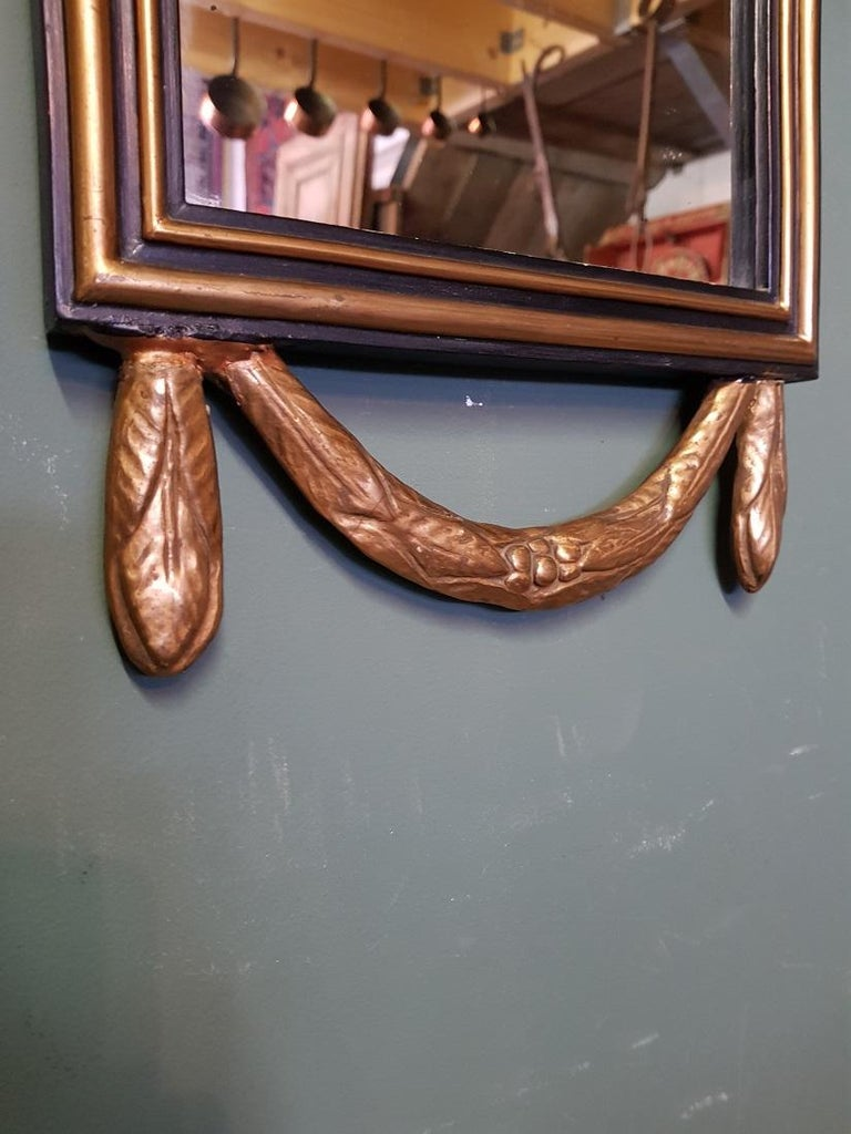 First Half of the 20th Century Gilt Louis XVI Style Dutch Mirror, from Amsterdam For Sale 1