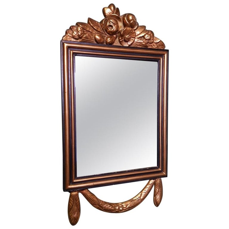 First Half of the 20th Century Gilt Louis XVI Style Dutch Mirror, from Amsterdam For Sale