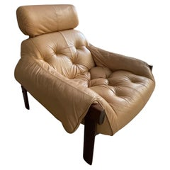 1'st Series Percival Lafer MP-41  Brazilian Leather Lounge Chair