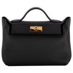 1stdibs Exclusive Hermes 2424 29cm Black Taurillon Maurice & Swift Gold Hardware