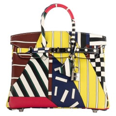 "1stdibs Exclusive Hermès Birkin 25cm ""One, Two, Three & Away We Go"" Nigel Peake"