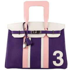 "1stdibs Exclusive Hermès Birkin 35cm ""Petit H"" Number Three Palladium Hardware"