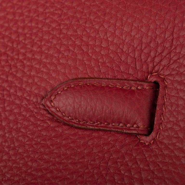 1stdibs Exclusive Hermes Birkin 35cm Rubis Togo Leather Gold Hardware For Sale 5