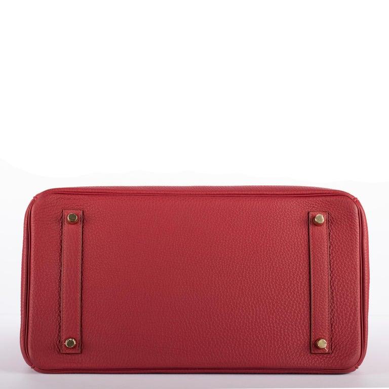 1stdibs Exclusive Hermes Birkin 35cm Rubis Togo Leather Gold Hardware For Sale 6