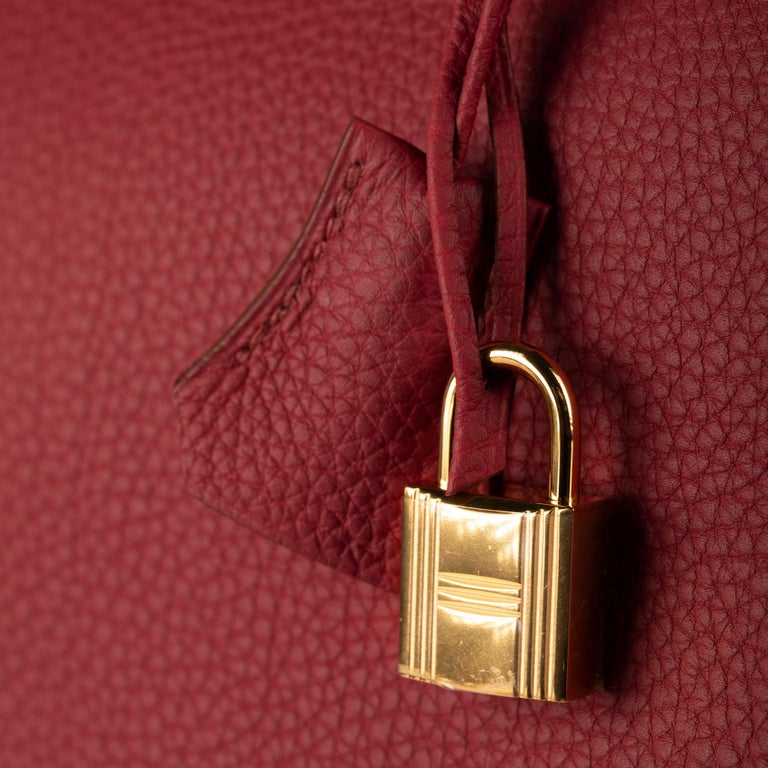 Red 1stdibs Exclusive Hermes Birkin 35cm Rubis Togo Leather Gold Hardware For Sale