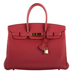 1stdibs Exclusive Hermes Birkin 35cm Rubis Togo Leather Gold Hardware