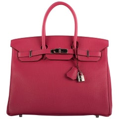 1stdibs Exclusive Hermes Birkin 35cm Tosca Fjord Leather Palladium Hardware