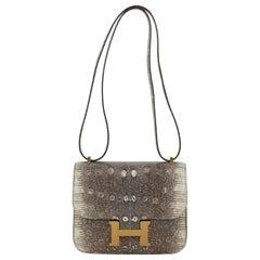 1stdibs Exclusive Hermès Constance 18cm Mini Ombré Lizard Gold Hardware