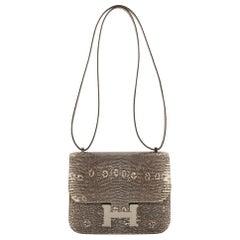 1stdibs Exclusive Hermès Constance 18cm Mini Ombré Lizard Palladium Hardware