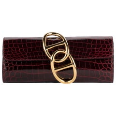 1stdibs Exclusive Hermes Egee Bordeaux Shiny Niloticus Gold Hardware