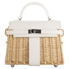 1stdibs Exclusive Hermès Kelly Mini Picnic White Swift Leather Palladium