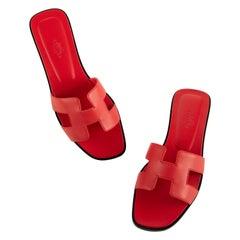 1stdibs Exclusive Hermes Oran Sandal Rose Cottigna Size 38FR