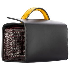 1stdibs Exclusive Hermès Petit H Multi Color Mini Rectangle Bag So Black