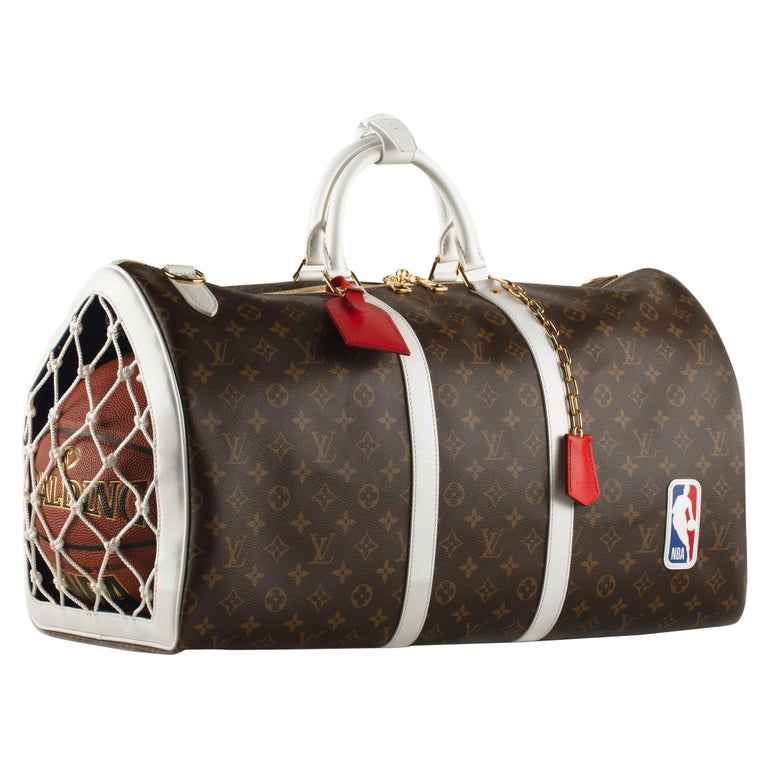 1stdibs Exclusive Louis Vuitton Basketball Keepall NBA Brown Monogram For Sale