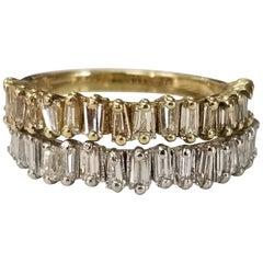 2-14 Karat Tapered Baguette Diamond Rings