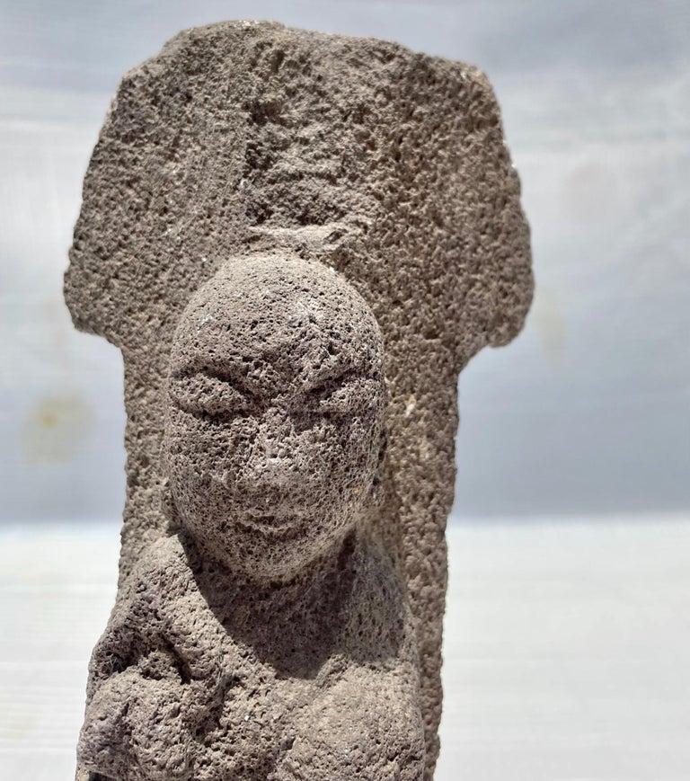 Edo #2. 18th Century Japanese Jizo Bodhisattva Stone Carving. For Sale