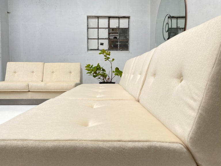 2 and 3 Seat Mohair 'CALIFORNIA' Sofas by Jacques Charpentier, Paris, 1970 For Sale 7