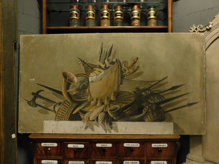 2 Antiques Paintings with Different Still Life Objects, Late 19th Century, Italy In Good Condition For Sale In Cuneo, Italy (CN)