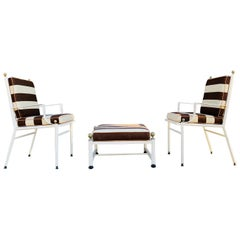 2 Armchairs and Ottoman Made in Spain by Hugonet