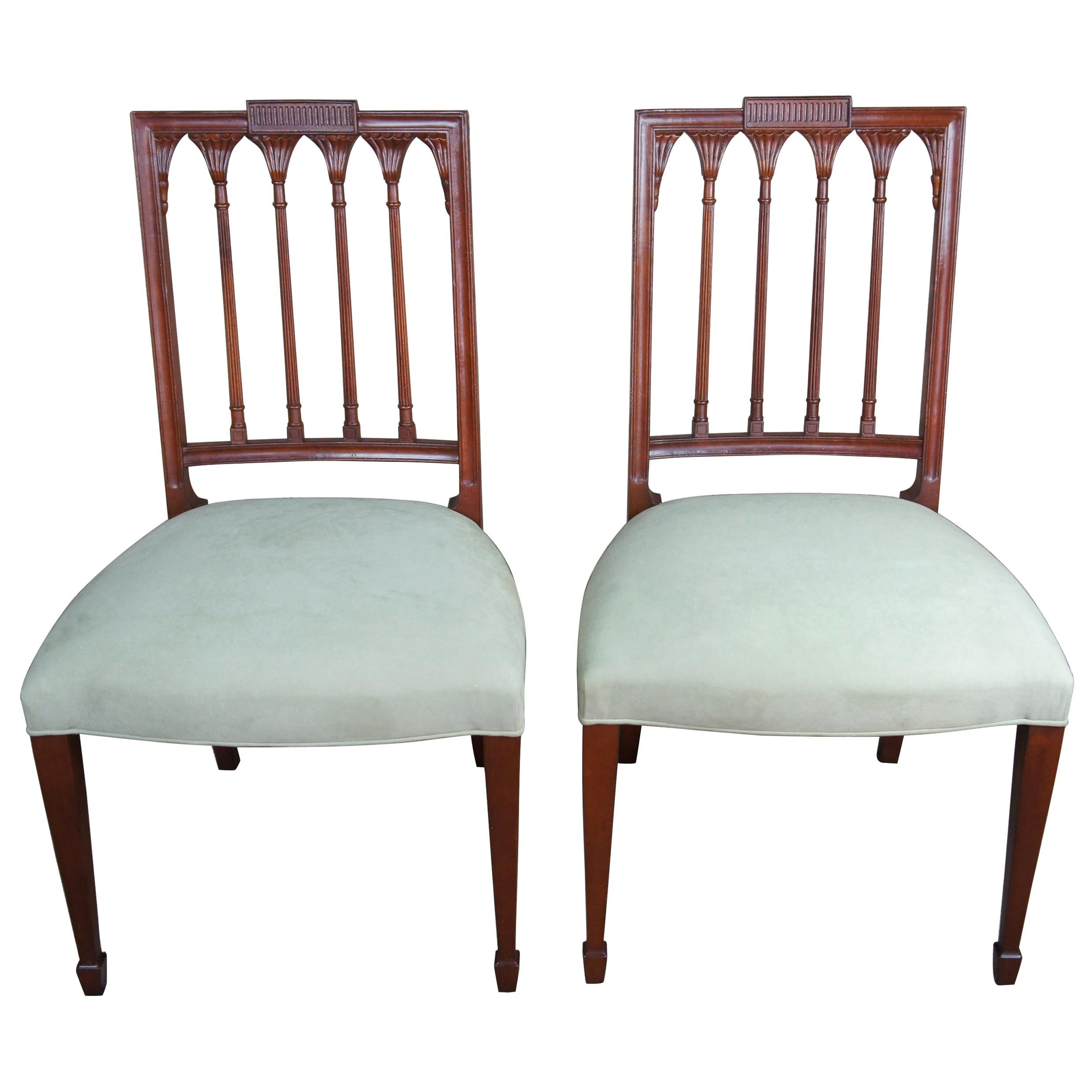 2 Baker Furniture Historic Charleston Russell Dining Chairs Mahogany Accent