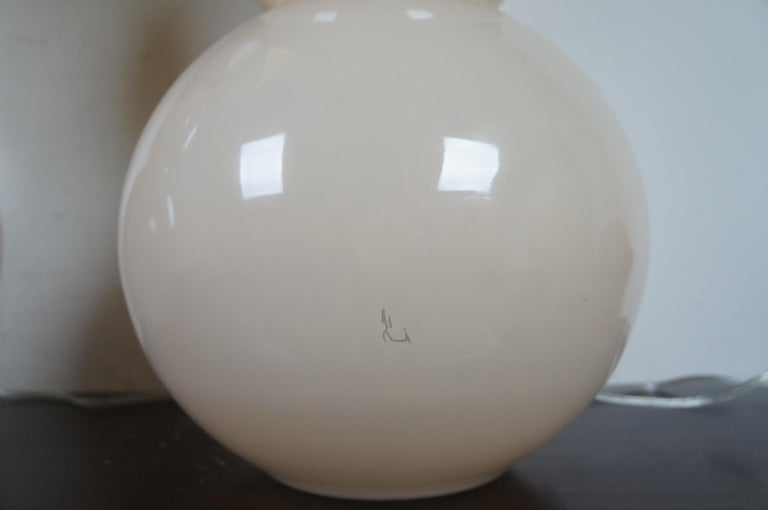 Glass 2 Ballard Designs Suzanne Kasler Celeste Double Gourd Modern Table Lamps Pair For Sale