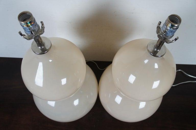 2 Ballard Designs Suzanne Kasler Celeste Double Gourd Modern Table Lamps Pair For Sale 3