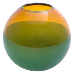 2-Banded Aurora and Forest Green Deep Bowl