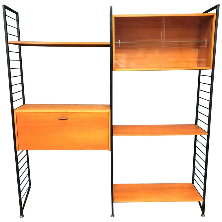 official photos a69b5 ab480 2 Bay Ladderax Teak Midcentury Shelving System with Bureau by Robert Heal