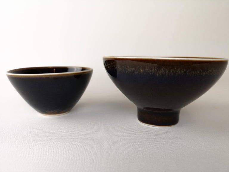 2 Bowls Rörstrand Carl Harry Stålhane, Sweden In Good Condition For Sale In Langserud, SE