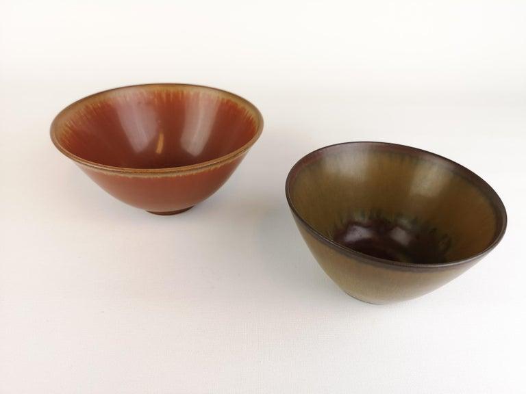 Mid-Century Modern 2 Bowls Rörstrand Gunnar Nylund / Stålhane, Sweden For Sale