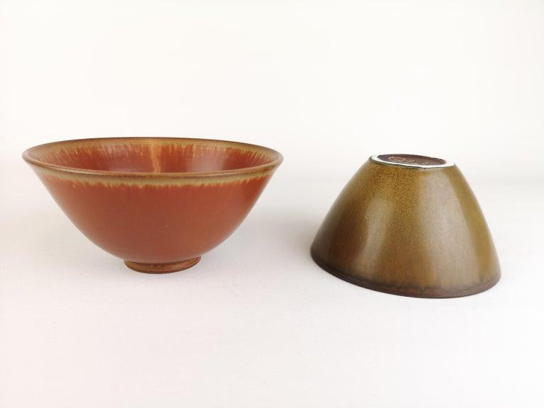Ceramic 2 Bowls Rörstrand Gunnar Nylund / Stålhane, Sweden For Sale