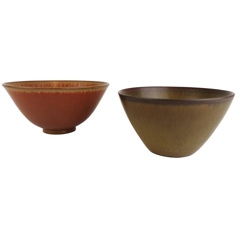 2 Bowls Rörstrand Gunnar Nylund / Stålhane, Sweden For Sale